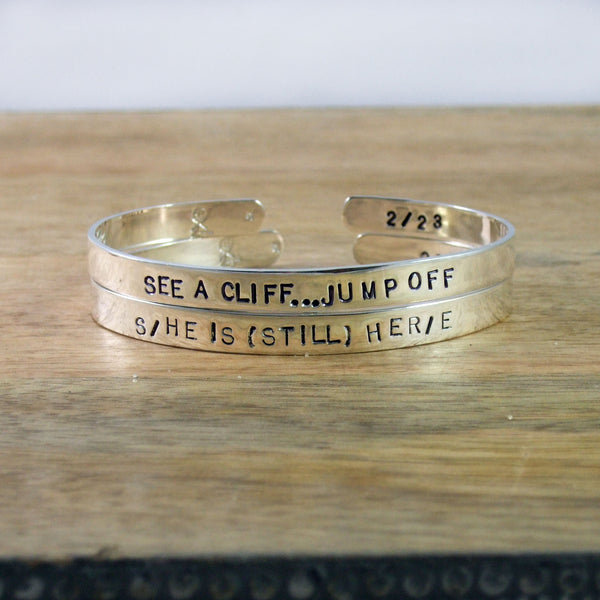 S/HE IS (STILL) HER/E Limited Editions numbered bracelets in Sterling Silver