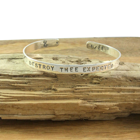 DESTROY THEE EXPECTED Limited Edition numbered bracelet in Sterling Silver