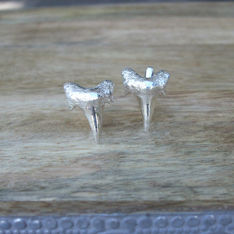 Sterling Silver Shark Tooth Cufflinks