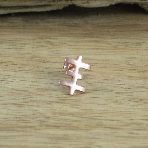 Tiny Psychic Cross Earrings