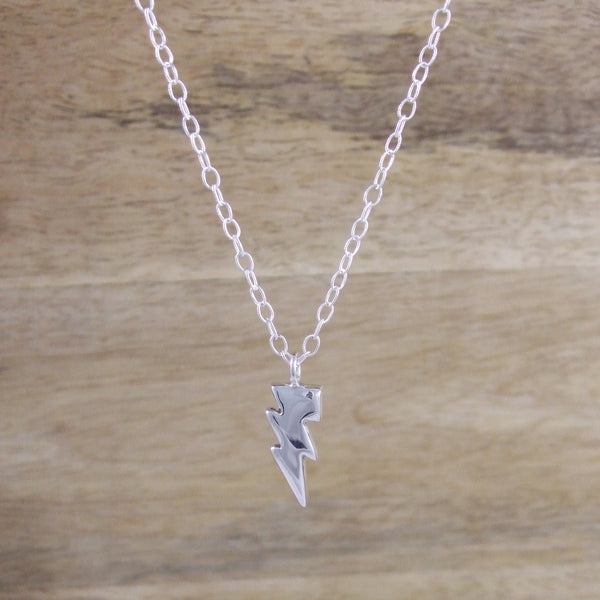 Sterling Silver Small Lightening Bolt Necklace