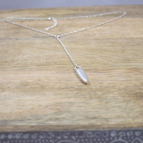 Sinker Necklace in Recycled Sterling Silver