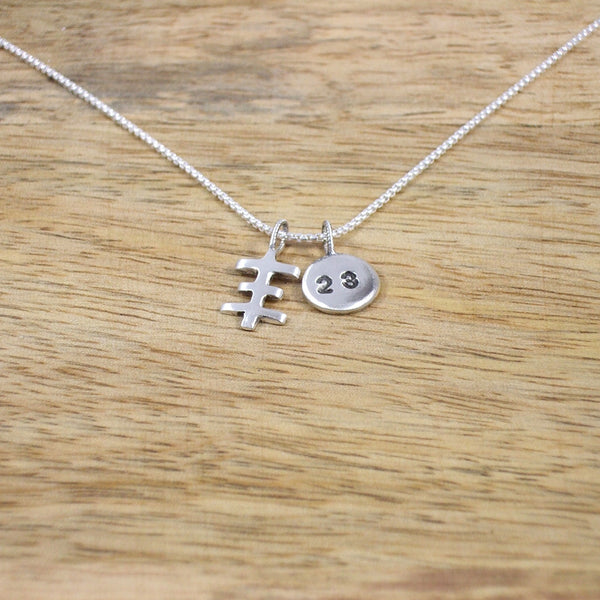 "Psychic Cross with ""23"" Charm Necklace"