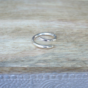 Sterling Silver Single Coil Ring
