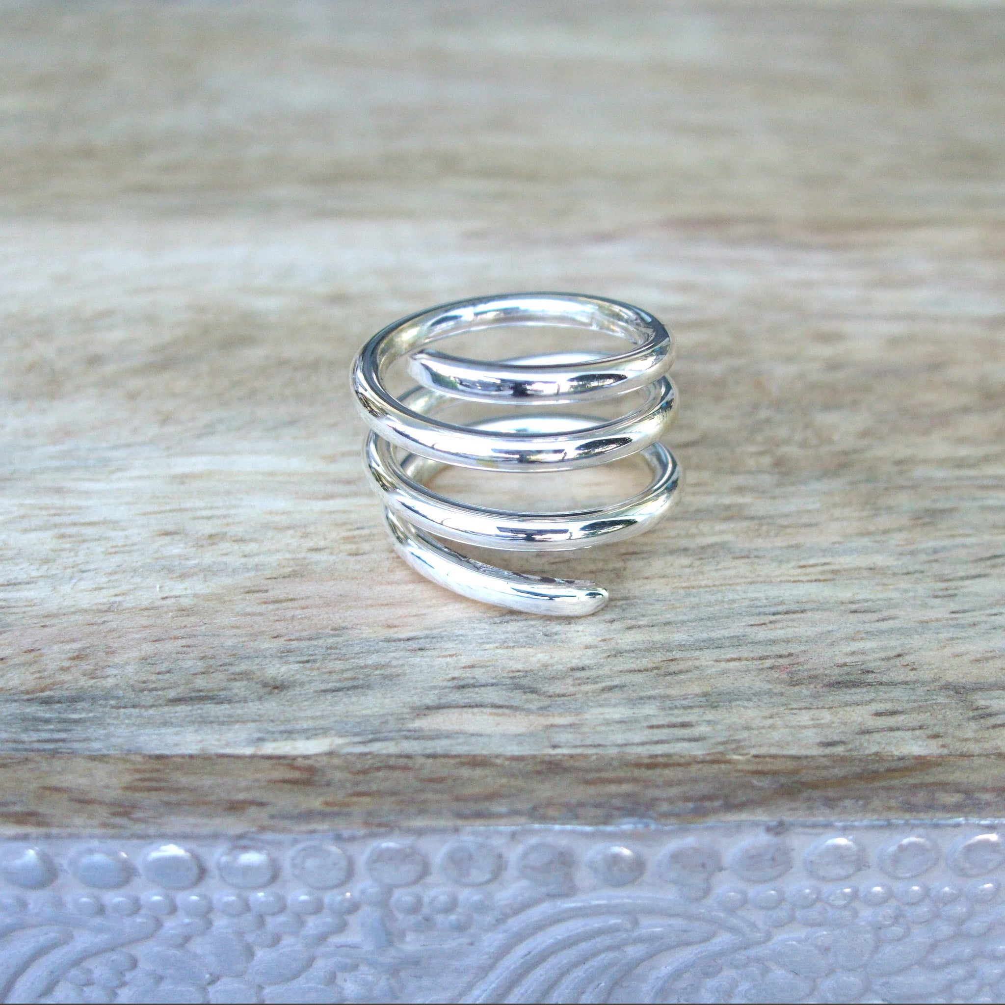 Sterling Silver Triple Coil Ring