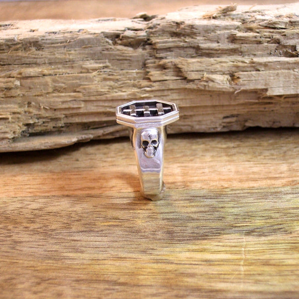 Psychic Cross Signet Ring in Sterling Silver
