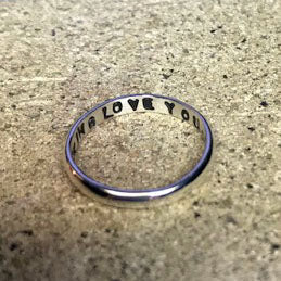 "Spell It Like It Is - ""I FUCKING LOVE YOU"" Ring in Recycled Sterling Silver"