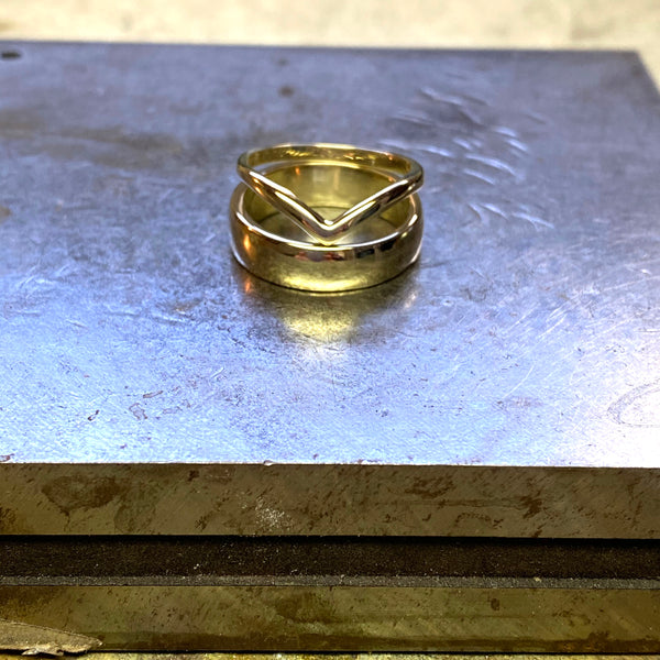 6mm Wide Wedding Band in Recycled Silver or Gold