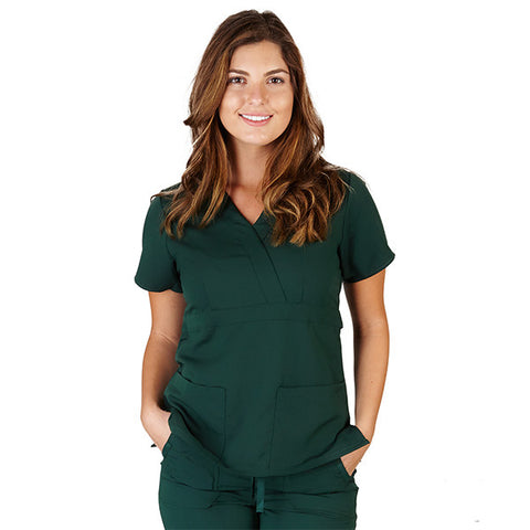 Ultrasoft Women's Mock Wrap scrub Top