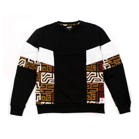 BLACK HSTRY KENTE PANEL SWEATSHIRT