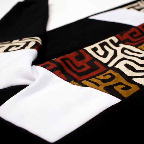 BLACK HSTRY KENTE PANEL SWEATPANT