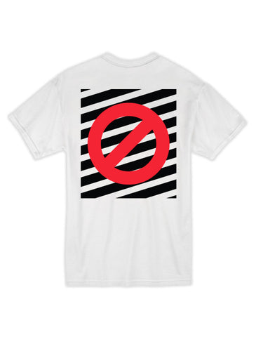 Striped No Ghost Tee - White/Black