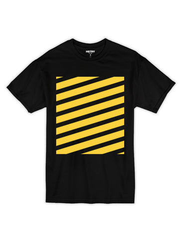 Striped No Ghost Tee - Black/Yellow