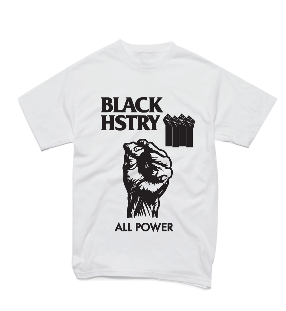 All Power Black HSTRY Tee - White