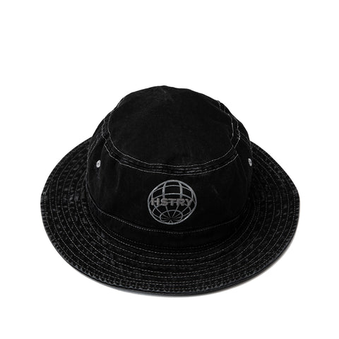 MINERAL WASHED BLACK BUCKET HAT