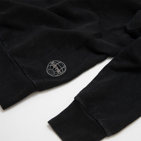 MINERAL WASHED BLACK SWEATSHIRT