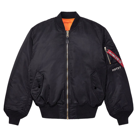HSTRY x ALPHA INDUSTRIES QUEENS WOLF MA-1 FLIGHT JACKET