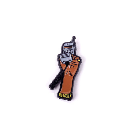 Cell Phone Enamel Pin