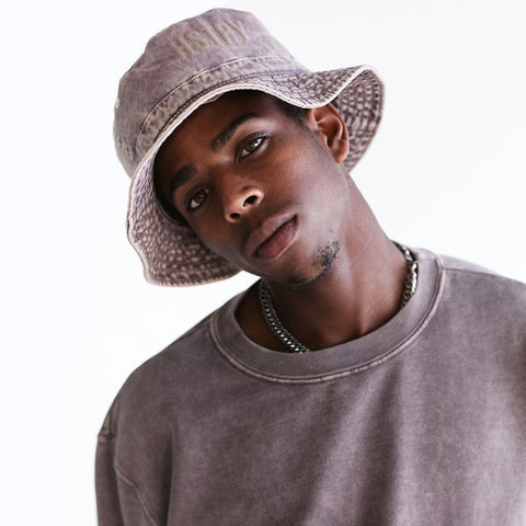 MINERAL WASHED MAUVE BUCKET HAT