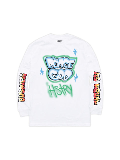 PEACE GOD LS TEE