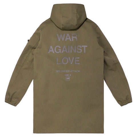 HSTRY x ALPHA INDUSTRIES WAR AGAINST LOVE MA-1 DUSTER W.P. FIELD COAT