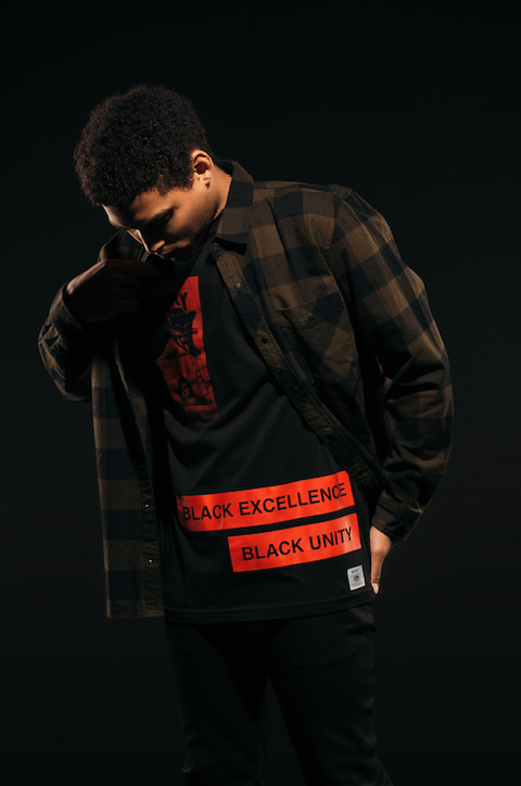 BLACK HSTRY UNITY TAPE TEE