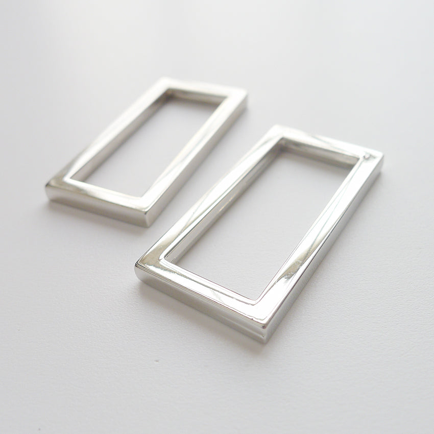 "1 1/4"" Rectangle Rings 2pk - Silver"