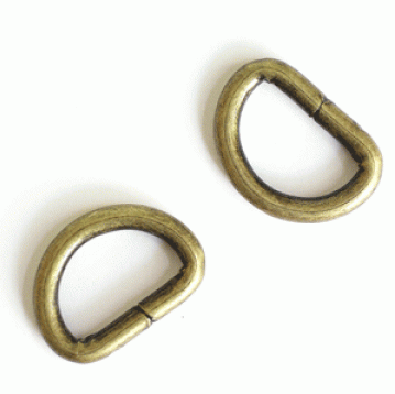 "1/2"" D Rings 2pk - 2 colours"