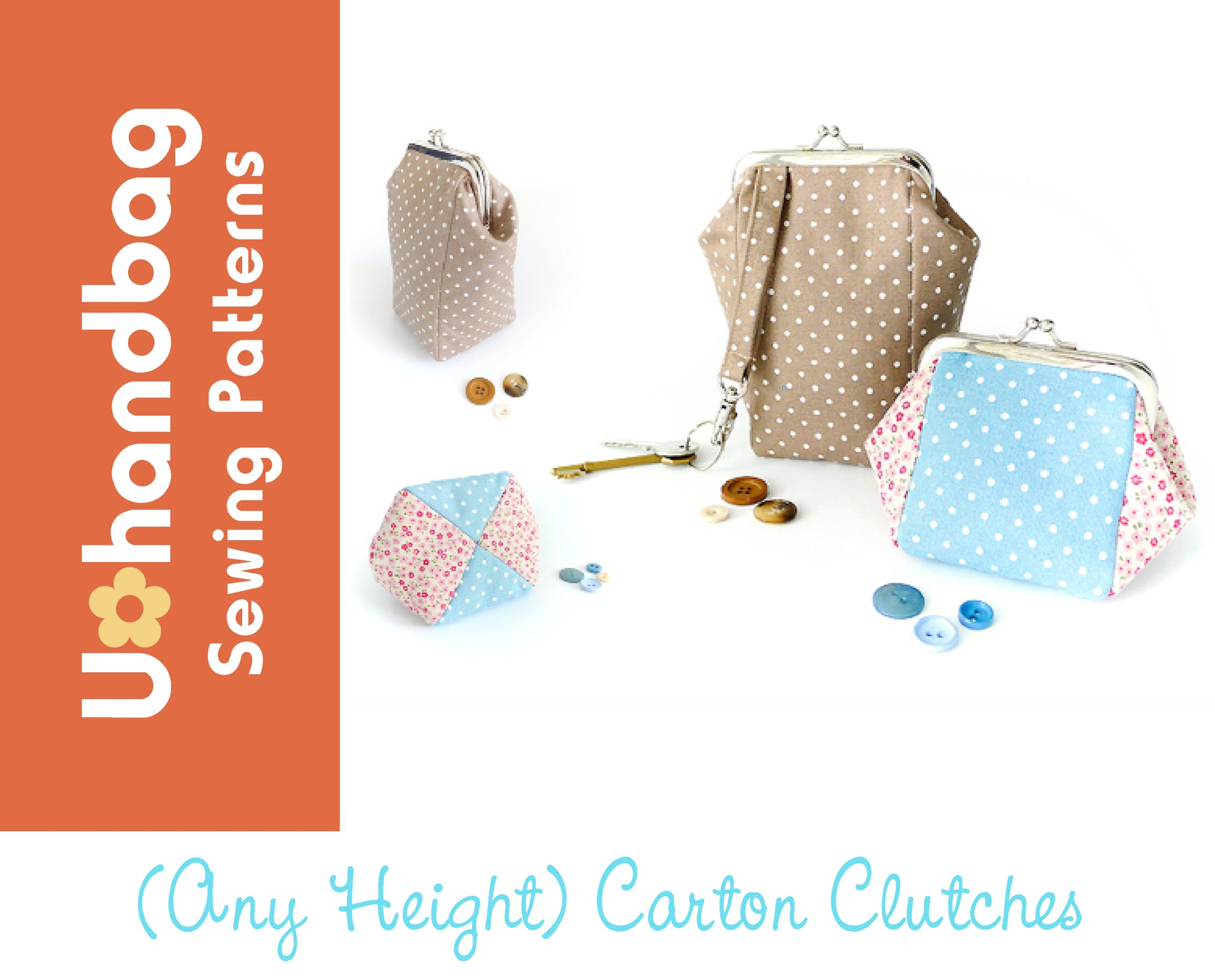 The (Any Height) Carton Clutch Purses Pattern Booklet