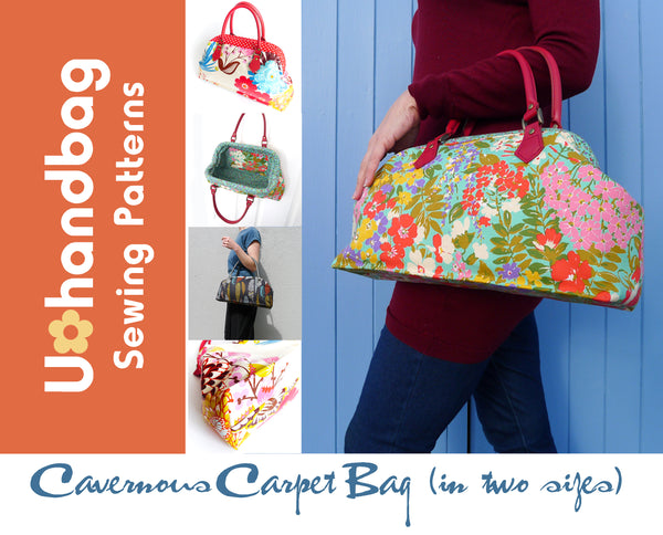 The Cavernous Carpet Bag (in 2 Sizes) Pattern Booklet