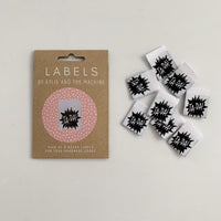 "KYLIE AND THE MACHINE: ""TA-DA"" WOVEN LABELS - PACK OF 8"