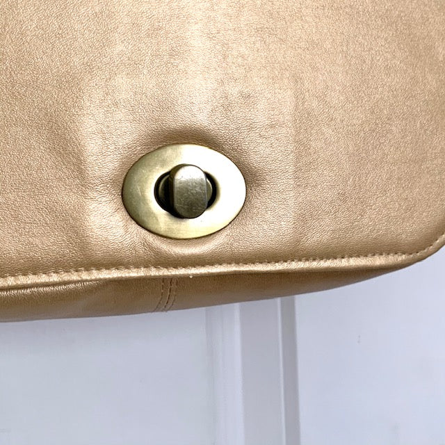 Stitched by Lisa - Hermes Messenger Bag - Moonbeam Gold