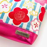 Stitched by Lisa - Pretty Simple Pouch - PINK POP BLOSSOMS