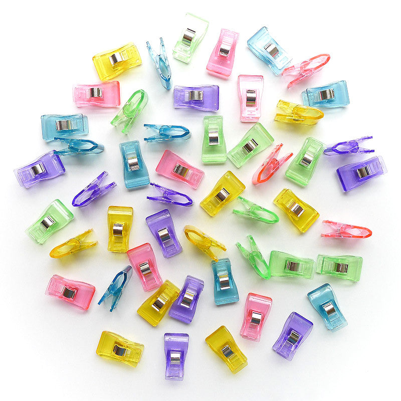 Sewing Clips - Multi Colour JELLIES ( 10, 25 or 50 pieces )