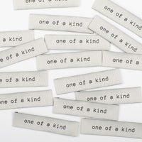 "KYLIE AND THE MACHINE: ""ONE OF A KIND"" WOVEN LABELS - PACK OF 8"