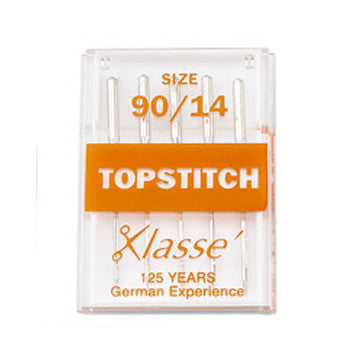 Klasse Machine Needles - Topstitch 90/14. ORANGE