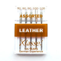 Klasse Machine Needles - Leather Assorted. BROWN