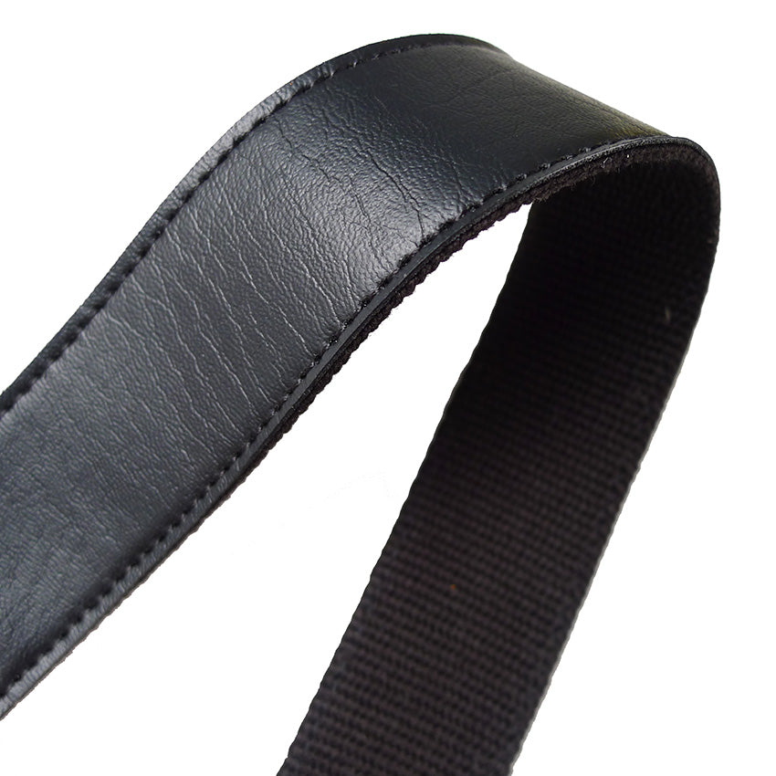 "Faux Leather Bag Handle Strap Tape (1"") in Black"