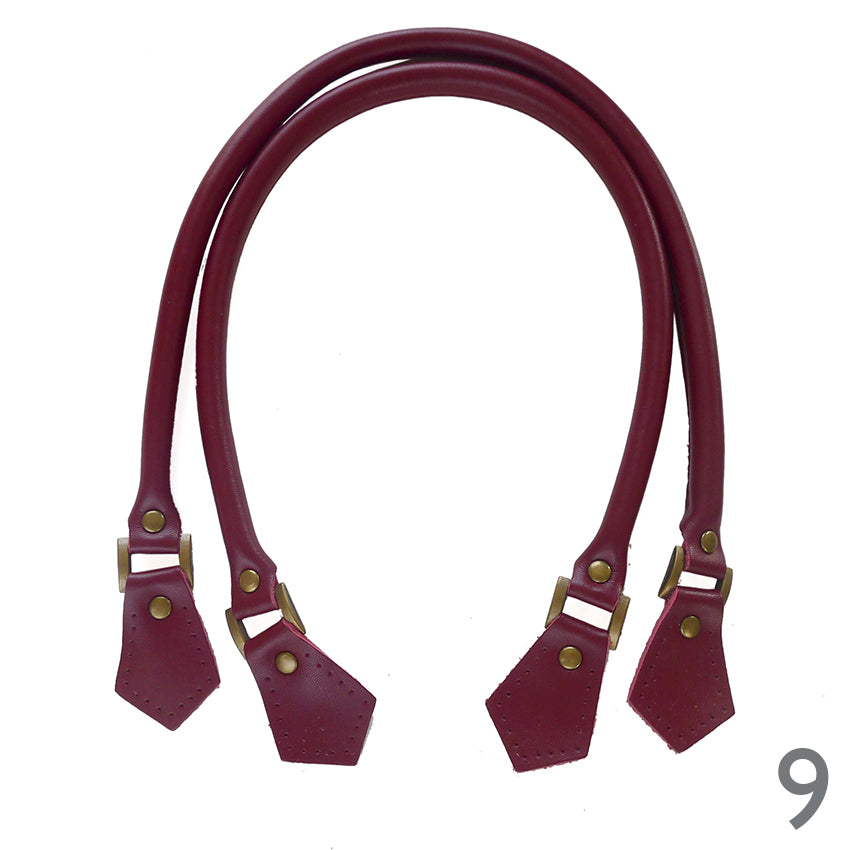 60cm Leather Piped Bag Handles - 11 colours