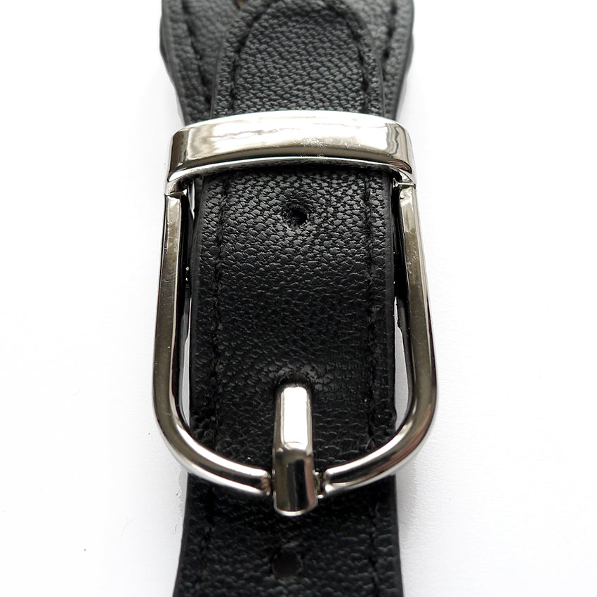 Faux Leather Black Magnetic Bag Buckle Fastener