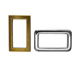 "1"" Rectangle Rings 2pk - 2 colours"