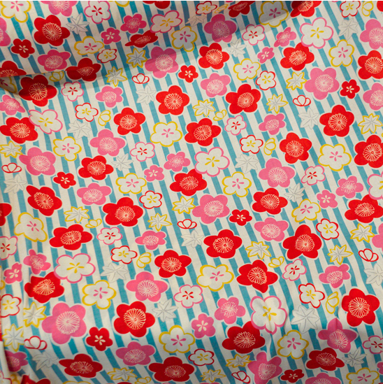 Japanese Import Fabric. Cherry Blossom - PINK