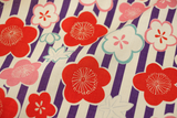 Japanese Import Fabric. Cherry Blossom - PURPLE