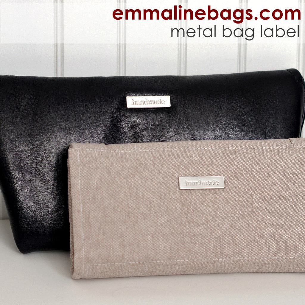 "Emmaline Metal Label Tag ""Handmade"" in 2 colours"