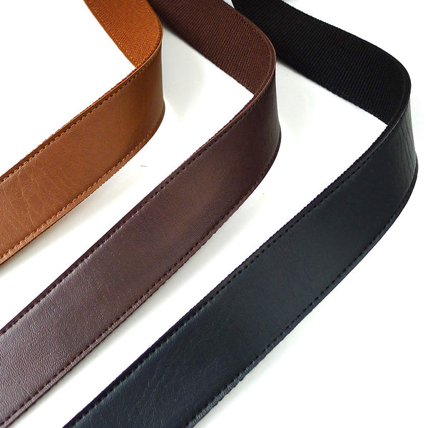 "Faux Leather Bag Handle Strap Tape (1 "") BLACK"