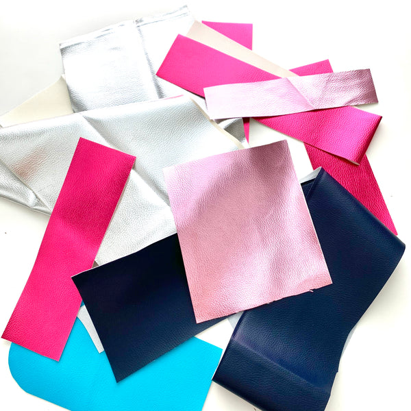 Pleather fabrics bundle - Mainly Metallics 290g