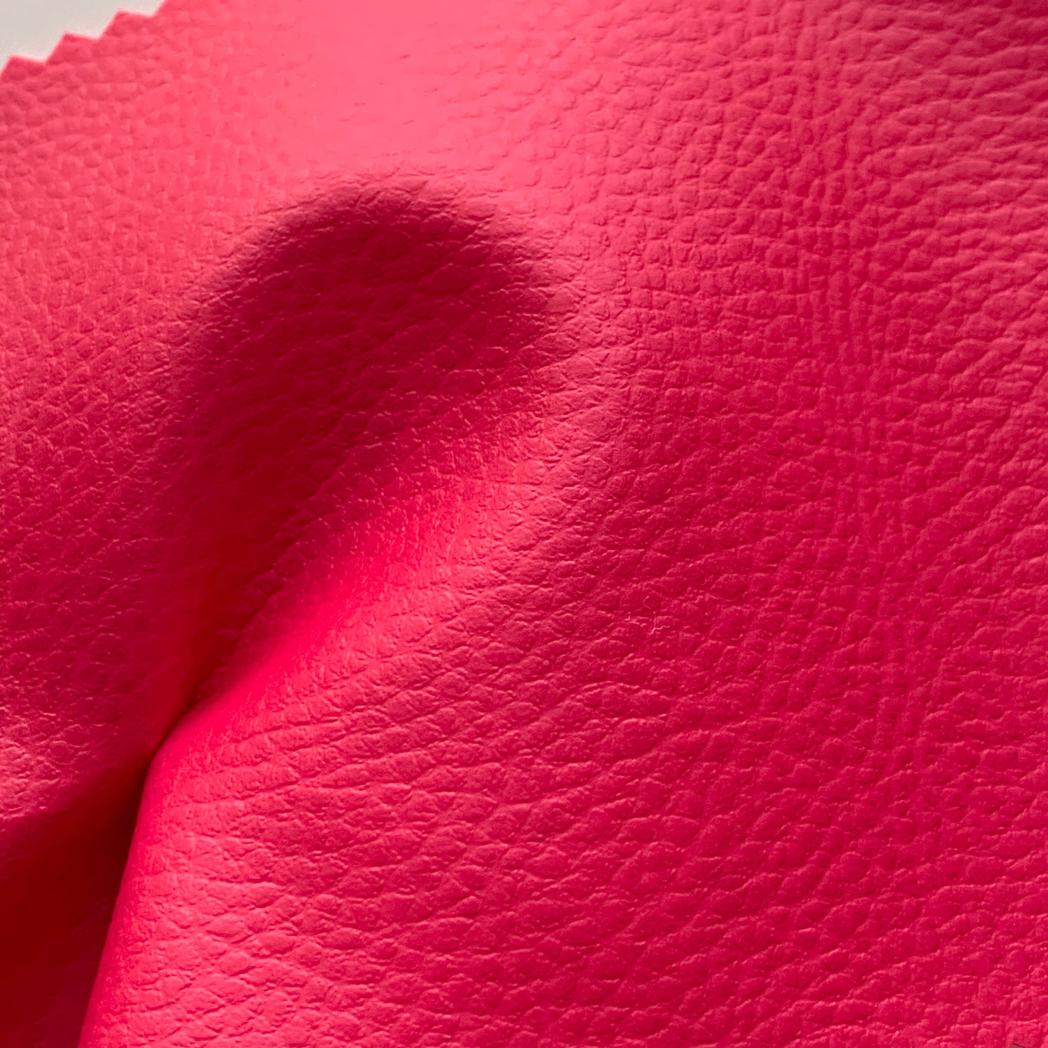 Medium Grain Faux Leather Pleather Fabric - FUCHSIA PINK