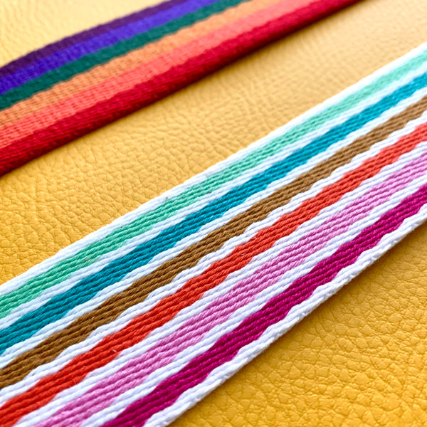 "38mm (1 1/2"") Heavyweight Rainbow Woven Webbing - 2 colours"