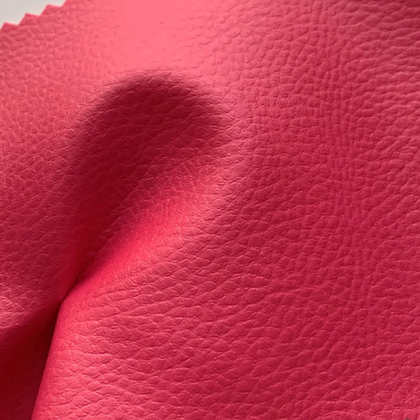 SECONDS Medium Grain Faux Leather Pleather Fabric - FUCHSIA