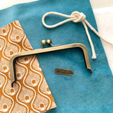 Easy Peasy Purse Making Kit with Fabrics & Metal Label - Princess Tiffany - Velour. LTD EDITION